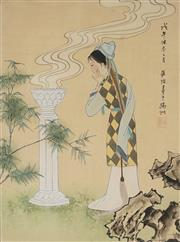 Sale 8847A - Lot 5092 - Chinese School (Two Works) - Courtesan 41 x 30cm each