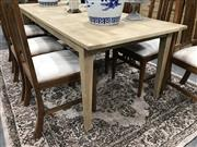 Sale 8889 - Lot 1373 - American Oak Parquetry Dining Table (220cm)