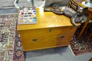 Sale 8039 - Lot 1094 - Timber Lift Top Trunk With Fitted Tray