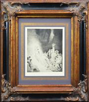 Sale 8161A - Lot 57 - Norman Lindsay (1879 - 1969) After. - Death In The Garden, 1923 36 x 29cm