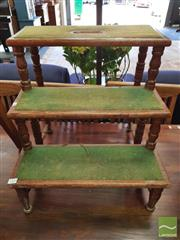 Sale 8428 - Lot 1078 - Set of Early Pitch Pine Library Steps