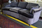 Sale 8550 - Lot 1396 - Suede 3 Seater Lounge