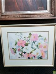 Sale 8645 - Lot 2076 - B Bellinghari - Camelia, watercolour, 50.5 x 60.5cm,  signed lower left