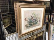 Sale 8824 - Lot 2052 - A hand-coloured lithograph of a Basket of Flowers