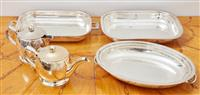 Sale 9090H - Lot 36 - A collection of Ep wares, tureen measures 30cm length