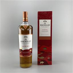 Sale 9182W - Lot 820 - The Macallan Distillers 'Aurora - 2021 Year of the Ox' Highland Single Malt Scotch Whisky - travellers exclusive, 40% ABV, 1000ml in.