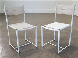 Sale 9255 - Lot 1107A - Pair of metal Childs chairs Alias (h:65 x w:32 x d:35cm)