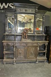 Sale 8093 - Lot 1794 - Impressive 17th Century Style Carved Oak Sideboard