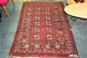 Sale 8156 - Lot 1020 - Persian Turkeman Carpet With Two Rows Of Guls (190x125cm)