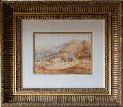 Sale 8313A - Lot 52 - Attributed to Conrad Martens - Untitled house in landscape 30 x 21cm