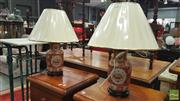 Sale 8404 - Lot 1038 - Pair of San Marino Monarch Lamps (4531)