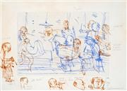 Sale 8484 - Lot 575 - John Olsen (1928 - ) - Art World, 2005 45 x 63cm (sheet size)