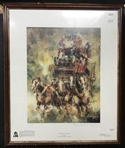 Sale 8563T - Lot 2008 - Patrick Kilvington - Coming in at Night-fall, limited edition print ed.98/500, 69 x 56cm (frame size), signed lower right