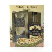 Sale 8588 - Lot 954 - 1x White Heather Special Reserve Blended Scotch Whisky - gift pack with 2 Cristal dArques tumblers