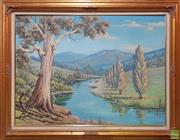 Sale 8595 - Lot 2042 - Eric Were, Country Scene, oil on board, 70 x 95cm (frame), signed lower left