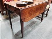 Sale 8848 - Lot 1027 - George III Mahogany Pembroke Table, fitted with a drawer and on tapering legs