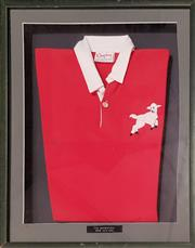 Sale 8949 - Lot 2085 - Framed Vintage New Zealand Barbarians Replica Jersey (68 x 54cm)