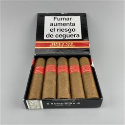 Sale 9165 - Lot 657 - Partagas Serie D No. 6 Cuban Cigars - pack of 5 cigars, removed from box dated August 2018