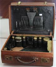 Sale 7950 - Lot 23 - Pressed Leather Gentlemans Case with Accessories