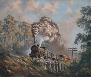 Sale 8000 - Lot 320 - Brian Baigent (born 1929) - Branch Line Mixed oil on canvas on board