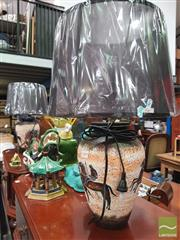 Sale 8455 - Lot 1059 - Pair of Italian Made Chariot Design Lamps (3368)