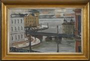Sale 8518A - Lot 50 - Knut Hanqvist (1904 - 1981) - View Towards Riddarholmen 25.5 x 42cm