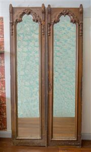 Sale 8500A - Lot 10 - A pair of early 19th Century Antique French armoire mirrored doors, fitted with custom made hand bevelled mirror glass, for internal...