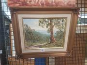 Sale 8645 - Lot 2084 - A Peterson - Country Track, oil on canvas on board, 31.5 x 37cm, signed lower left