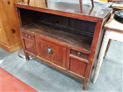 Sale 8676 - Lot 1080 - Oriental 2 Drawer, 2 Door Cabinet