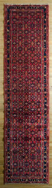 Sale 8700C - Lot 34 - Persian Husseinbad Runner 428cm x 110cm