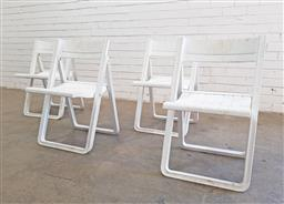 Sale 9102 - Lot 1302 - Set of four Plastex folding chairs (h76 x w47 x d45cm)