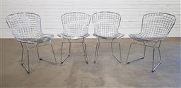 Sale 9183 - Lot 1057 - Set of 4 Bertoia style dining chairs (h:80 x w:41 x d:45cm)