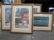 Sale 8391 - Lot 94 - Japanese Set of 4 Framed Prints