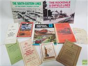 Sale 8900 - Lot 29 - Collection of Railway Ephemera incl. Electric Railway to Cronulla; Hardy, B. Their Work was Australian: The Story of the Hudson F...