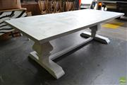 Sale 8566 - Lot 1674 - Recycled Elm Whitewash Dining Table (250)