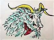 Sale 8527A - Lot 1 - Adam Cullen (1965 - 2012) - Goat 57 x 77cm