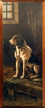 Sale 8972H - Lot 22 - Artist Unknown (C19th) - Hunting Dog 94 x 34 cm (total: 99 x 39 x 4 cm)
