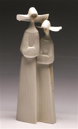 Sale 9128 - Lot 53 - A Lladro figural group of religious ladies (H 34cm) -