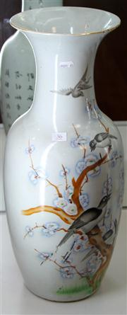 Sale 7969 - Lot 36 - Large Chinese Vase Painted with Birds and Blossoms