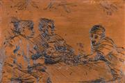 Sale 8000 - Lot 300 - Brian Dunlop (1939 - 2009) - Topers 1972 etched copper plate