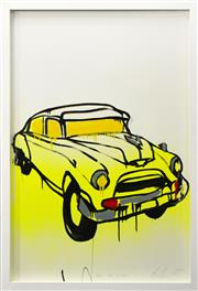 Sale 8257A - Lot 59 - Jasper Knight (1978 - ) - Cuban Cab (Study) 119 x 78cm