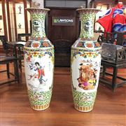 Sale 8273 - Lot 96 - Large Pair Of Oriental Vases