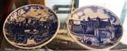 Sale 8320 - Lot 610 - 1970s Set of 4 blue and white plates with scenes of London