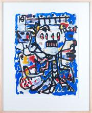 Sale 8308A - Lot 206 - LARWILL, David, Untitled, 1986, gouache on paper, 62.5 x 47.0 cm