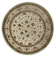 Sale 8412C - Lot 37 - Silk & Wool Round Rug 178cm x 178cm