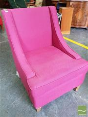 Sale 8480 - Lot 1088 - A Maroon Upholstered Armchair