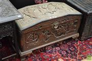 Sale 8507 - Lot 1024 - Heavily Carved Dome Top Trunk