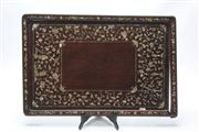 Sale 8670 - Lot 231 - MOP Mother-of-Pearl Inlay Chinese Rosewood Serving Tray