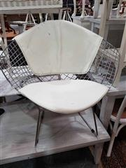 Sale 8912 - Lot 1076 - Metal Diamond Chair With Leather Cushion