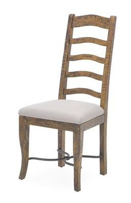 Sale 9140F - Lot 239 - Hardy Interiors original design. A set of 8 Albany coloured ladder back dining chairs made from fruitwood. Dimensions: W49 x D55 x H...